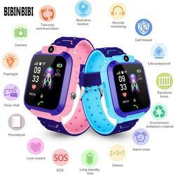 2020 nova bibinbibi crianças relógio inteligente da tela de toque câmera chamada sos profissional gps posicionamento à prova dwaterproof água relógio inteligente