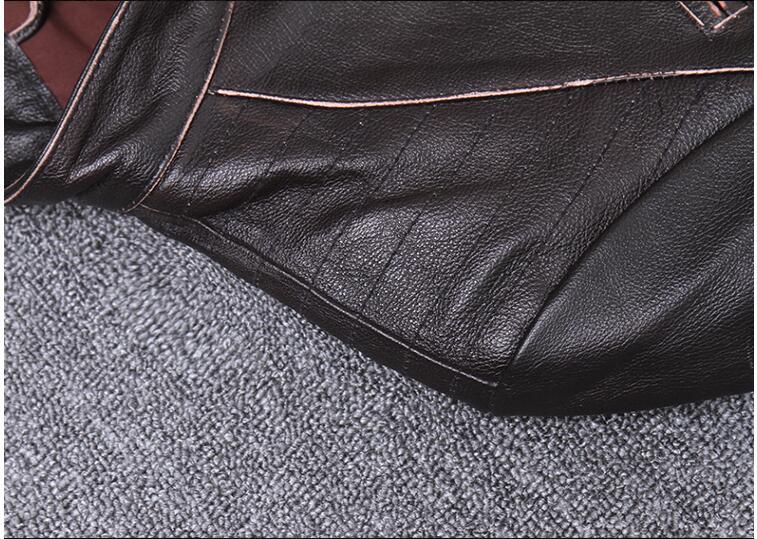 H902f5611ca014759b53f9e1998f5d88bh 2019 Vintage Brown Men Slim Fit Motorcycle Leather Jacket Plus Size XXXXL Genuine Cowhide Spring Biker's Coat FREE SHIPPING