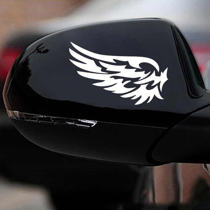 Keren Sayap Stiker Mobil Lucu Bungkus Vinyl Auto Decals Menarik Reflektif Mobil Carbon Fiber Stiker Decals untuk Penutup Goresan