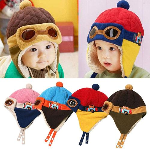Winter Warm Cap Hat Baby Boys Girls Toddler Kids Pilot Earflap Soft and Warm Hat