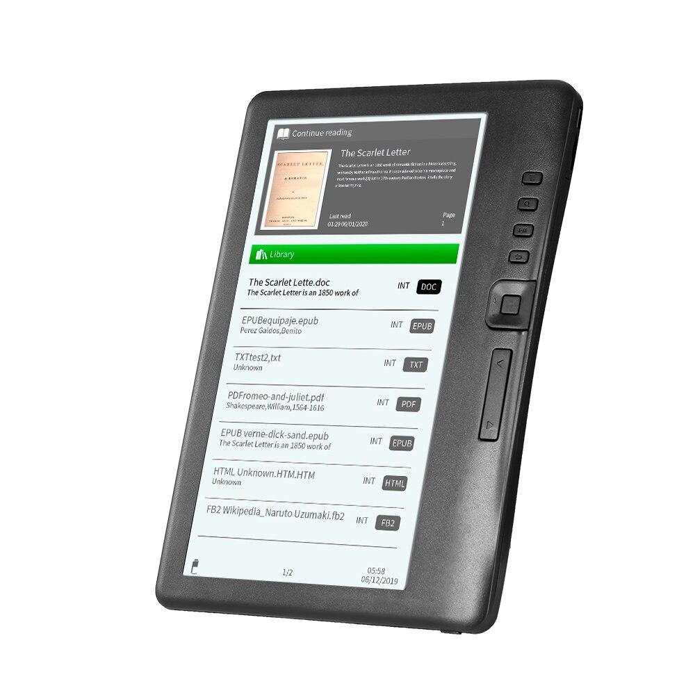 Bk7019 leitor portátil de e-book 8gb 7 polegadas multifunction e-reader backlight cor display lcd tela leitor de livro e leitor de livro