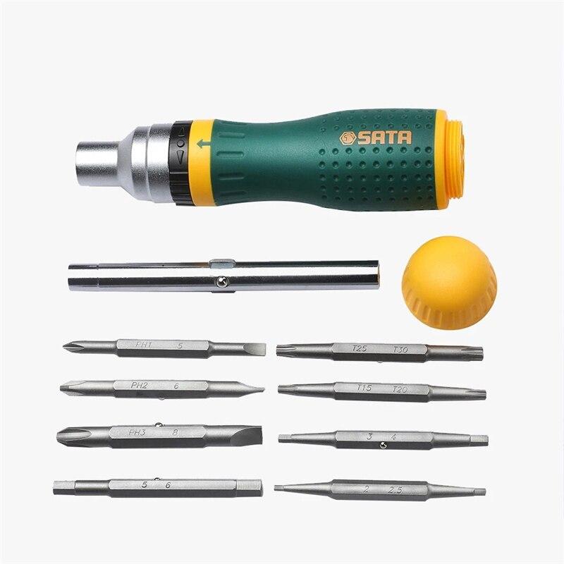SATA 19 in 1 Multifunctional Ratchet Screwdriver Set W  8 Bits Repair Tools Kit