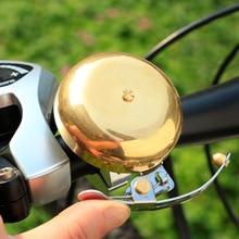 Timbre de bicicleta clásico Retro sonido fuerte claro MTB bicicleta plegable para carretera manillar anillo de cobre bocina de alerta alarma de seguridad