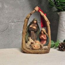 Набор рождественских декораций с изображением католического Иисуса, украшения для Рождественской церкви, подарки, церковный сувенир
