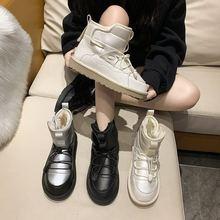 Зима 2020 женские модные зимние ботинки короткие ботильоны ulzzang