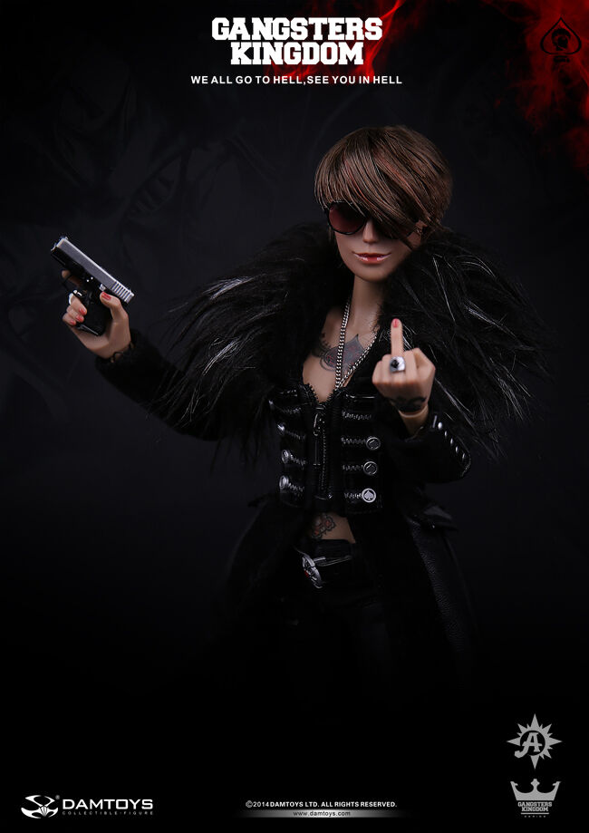 DAM Toys GK008 The <font><b>Gangsters</b></font> <font><b>Kingdom</b></font> Female Killer Spade 6 Ada 1/6 Figure image
