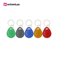 100PCS EM4305 T5577 tag Copy Rewritable Writable Rewrite keyfobs RFID Key Ring Card Proximity Token Badge Duplicate