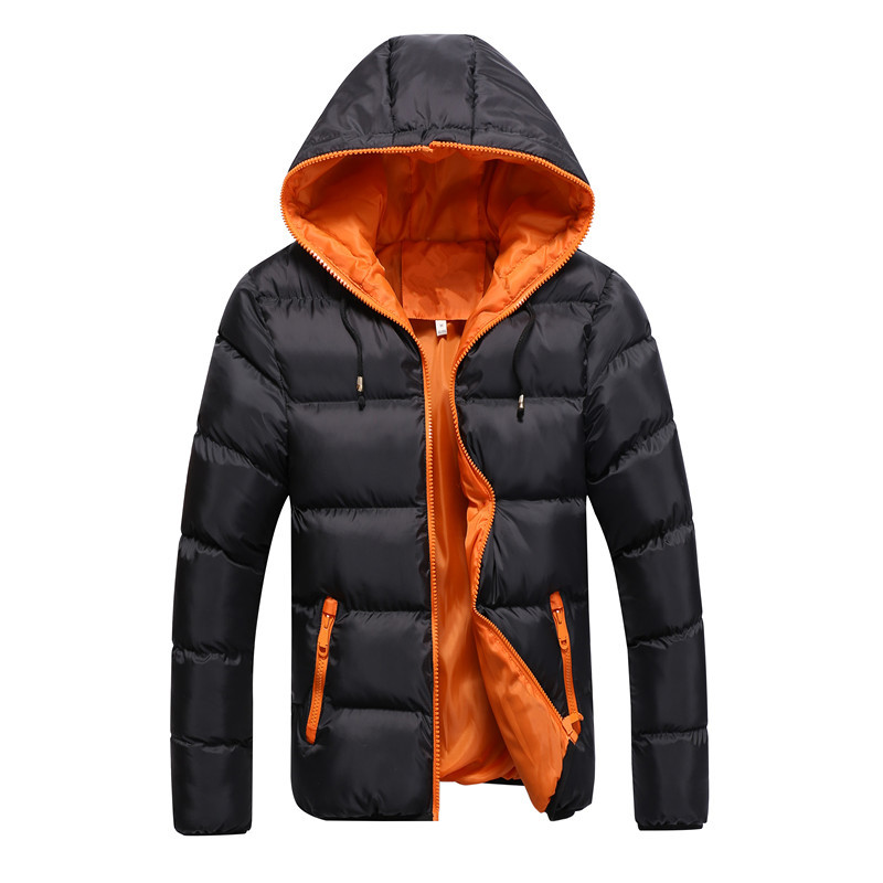Brand Winter Men Parkas Coat New Men's Casual Fashion Parkas Male Simple Solid Color Hooded Parka Jackets Clothing