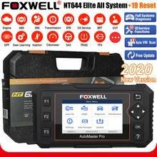 Foxwell nt644 elite obd obd2 ferramenta de diagnóstico do carro profissional dpf epb immo 19 redefinir sistema completo scanner automotivo atualização gratuita