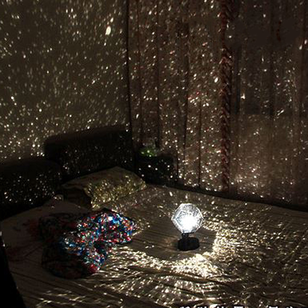 LED Projection Lamp Romantic Planetarium Star Projector Cosmos Light Night Sky Lamp Kids Bedroom Stars Decoration Home Lamp