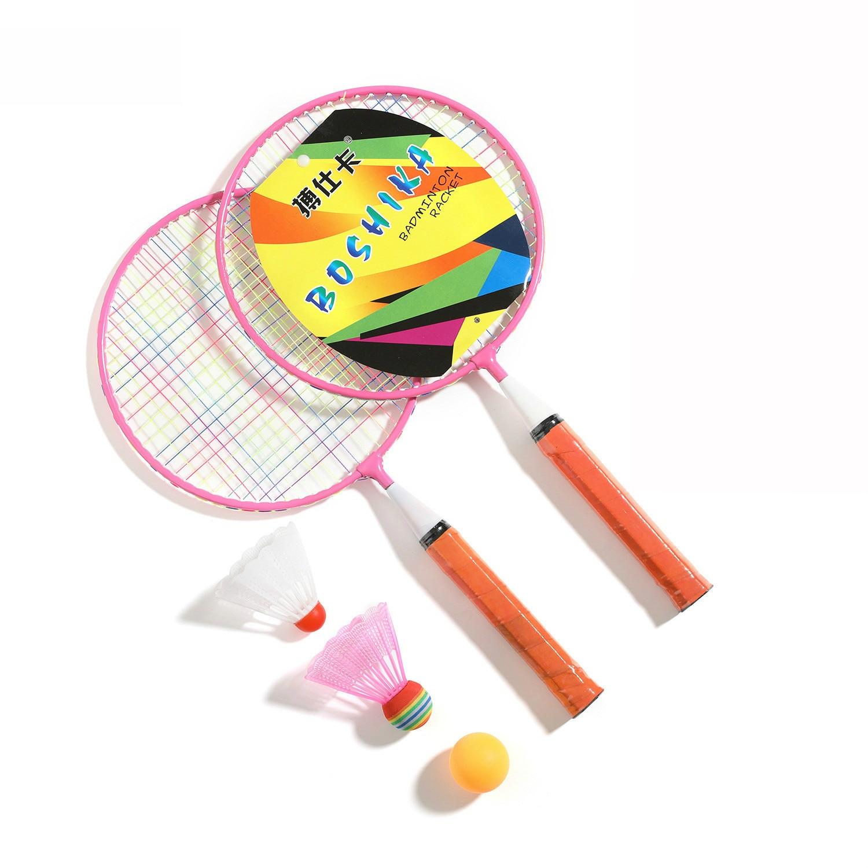 Children's Badminton Racket Cartoon Outdoor Entertainment Supplies Badminton Set Parent-child Toys Lining Badminton  Racket