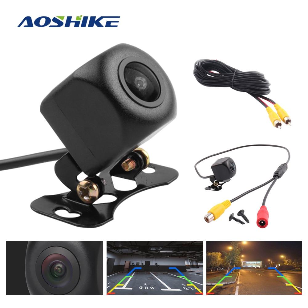 AOSHIKE lente de ojo de pez de 170 grados 1280*720P luz de estrella visión nocturna de coche de visión trasera de respaldo de vehículo de estacionamiento AHD Cámara