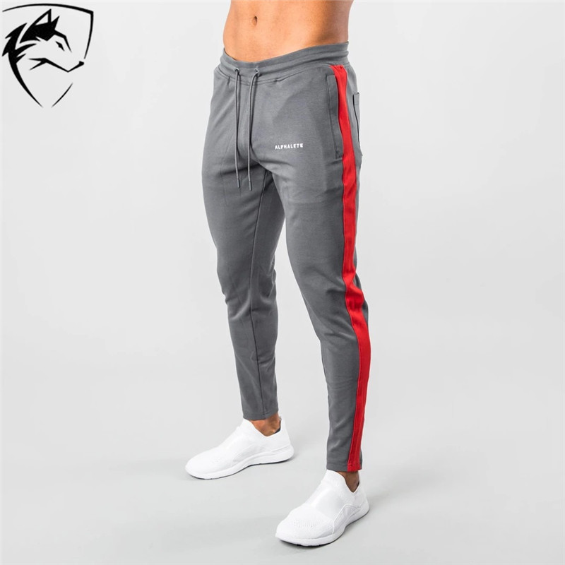 ALPHALETE Newest Mens Sweatpants Man Gyms Fitness Bodybuilding Joggers Workout Trousers Men Cotton Pencil Pants Men's Streetwear