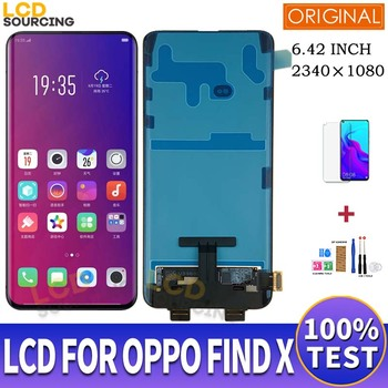 "6.42"" AMOLED LCD For OPPO Find X LCD Display Touch Screen Panel Digitizer Assembly For OPPO Find x Display Repalce with Frame 1"