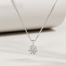 Genuine S925 sterling silver pendant snowflake Korean trend luxury zircon ladies gift fashion silverware jewelry