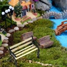 1:12 New Dolls House Miniature Garden Furniture Accessories Wooden Bench Metal