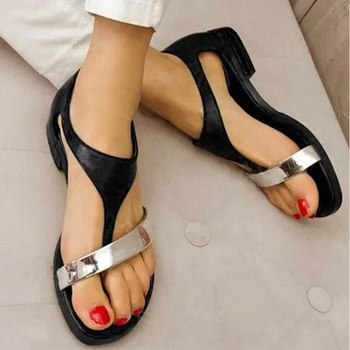 Women's Sandals Women Summer Shoes Beach Low Heel Clip Toes Buckle Strap PU Leather Female Sandalias Ladies Casual 2021