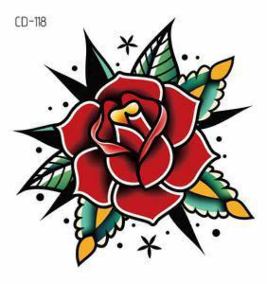 1 adet seksi Mandala çiçek siyah beyaz çiçekler dövmeler Sticker geçici çizim çiçek kız vücut sanatı sahte dövmeler su transferi