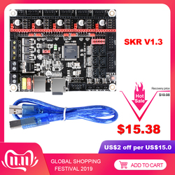 Bigtreetech skr v1.3 32bit placa de controle braço cpu 32bit smoothieboard tmc2130 spi tmc2208 tmc2209 vs mks gen l peças de impressora 3d