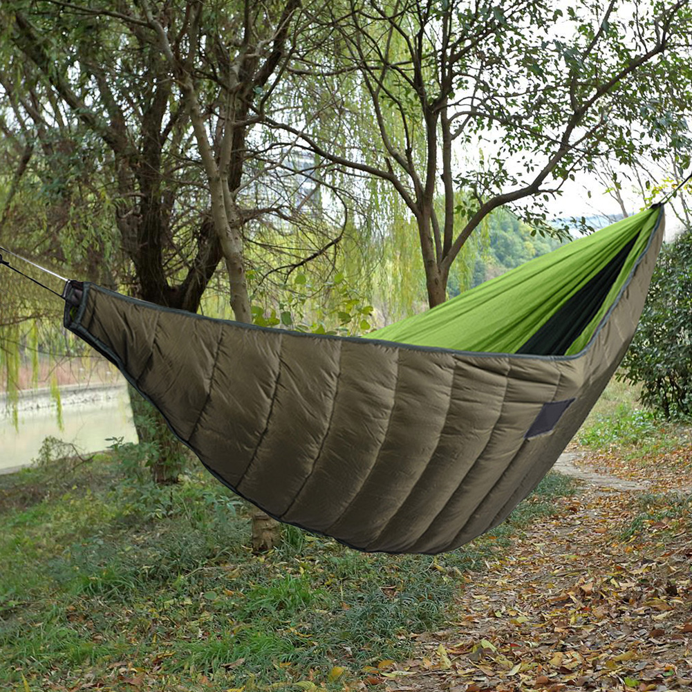 Ultralight Cotton Blanket Hammock Thicken Outdoor Warm Foldable Full Length Army Green Winter Camping Portable Underquilt