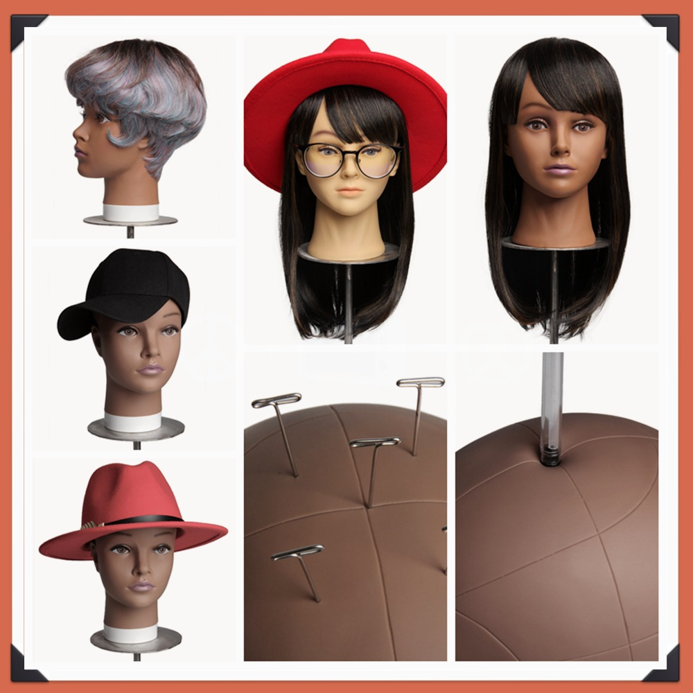 Soft PVC Bald Mannequin Head StandHolder For Making Hair Styling Wigs and Hat Display Cosmetology Training Manikin Practice Head