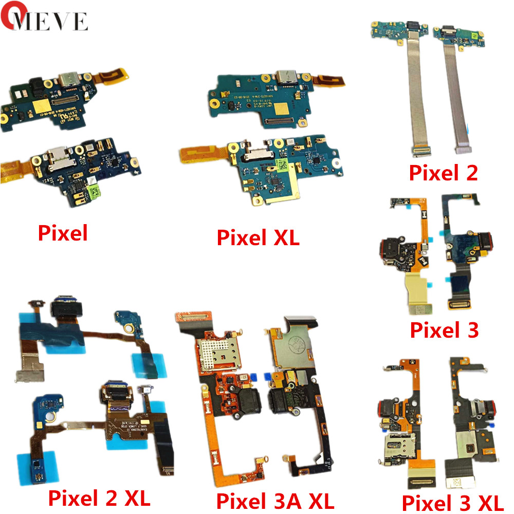100% New Original For HTC Google Pixel/XL/2/2XL/3/3XL Type-C USB Charging Port Dock USB Plug Charge Board Flex Cable PCB