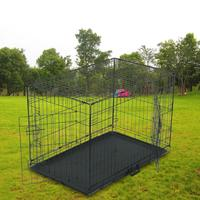 Portable 36 Pet Kennel Cat Dog Folding Steel Crate Animal Playpen Wire Metal Products Security Gate Supplies For Rabbit