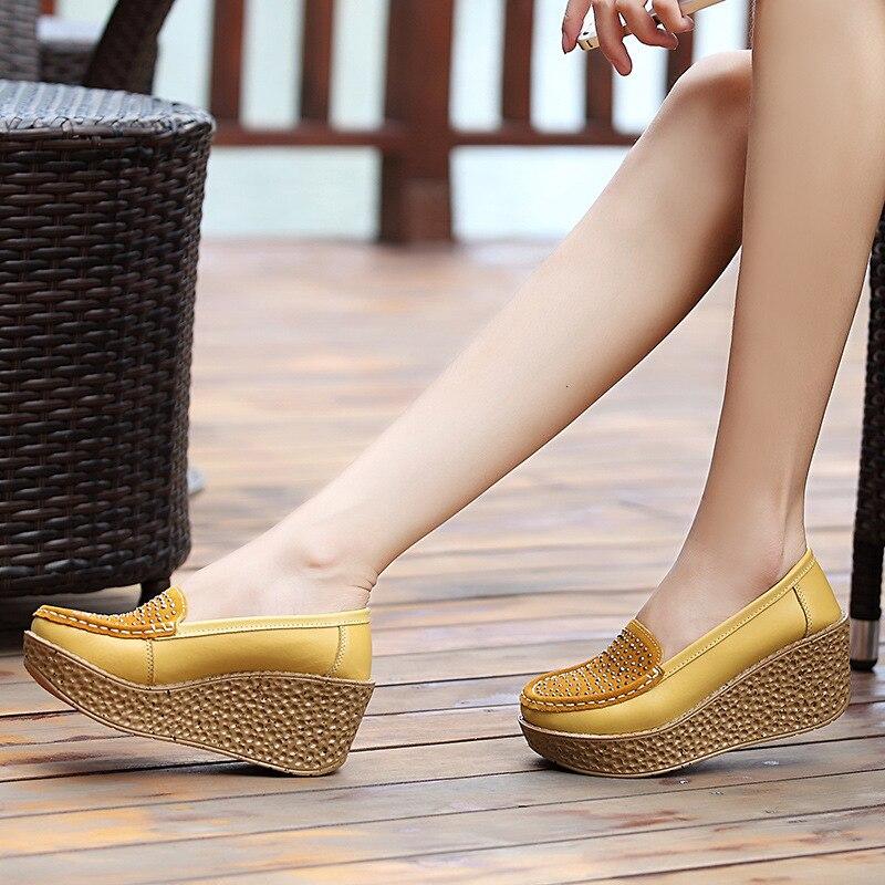 feminino plataforma baixo cristal 7cm sapatos casuais,