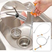 Сливной забиватель воды мойка очиститель змея Unblocker кухня ванна стержень для удаления волос туалет земснаряд трубы ванная комната кухня чистая 60 см 85 см
