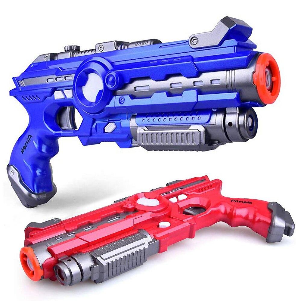 Инфракрасный лазер CS играющие цифровые электрические пушки игрушка лазерная бирка со вспышкой светильник эффект звуков стрельба