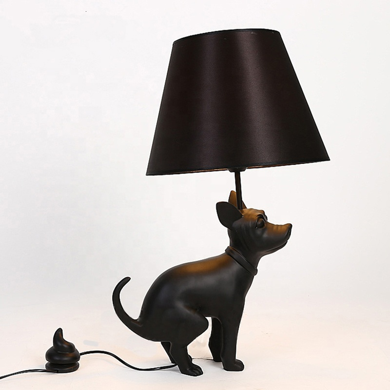 Hot Sale Funny Classic Resin Animal <font><b>Dog</b></font> <font><b>Table</b></font> <font><b>Lamp</b></font> For Room Decorative lampe de chevet image