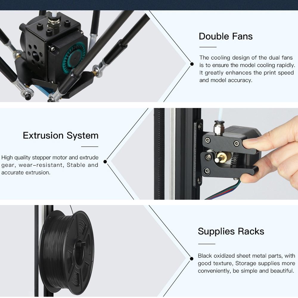 Image 5 - ANYCUBIC Kossel 3d Printer impressora 3D Auto Leveling Module Linear Guide Automatic Leveling Platform 3D Printer Stampante 3D-in 3D Printers from Computer & Office