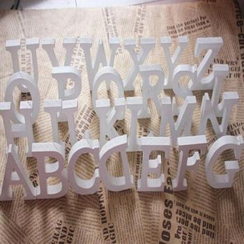 1pc Diy Freestanding Wood Wooden Letters White Alphabet Wedding Birthday Party Home Decorations Personalised Name Design QQLIFE 1