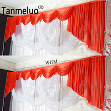 Detachable wedding swags drapes panels wedding backdrop curtain swags sequin wedding stage props drapery event party decoration(China)