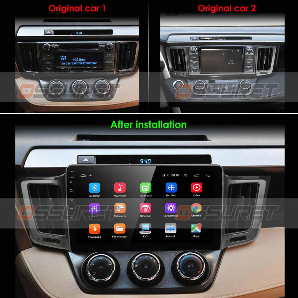 """Ossuret 10,1 """"Android 9.0 Auto radio GPS Navigation für Toyota RAV4 2013 2014 2015 2016 2017 SWC FM CAM- IN BT USB TUPFEN DTV OBD2 PC"""