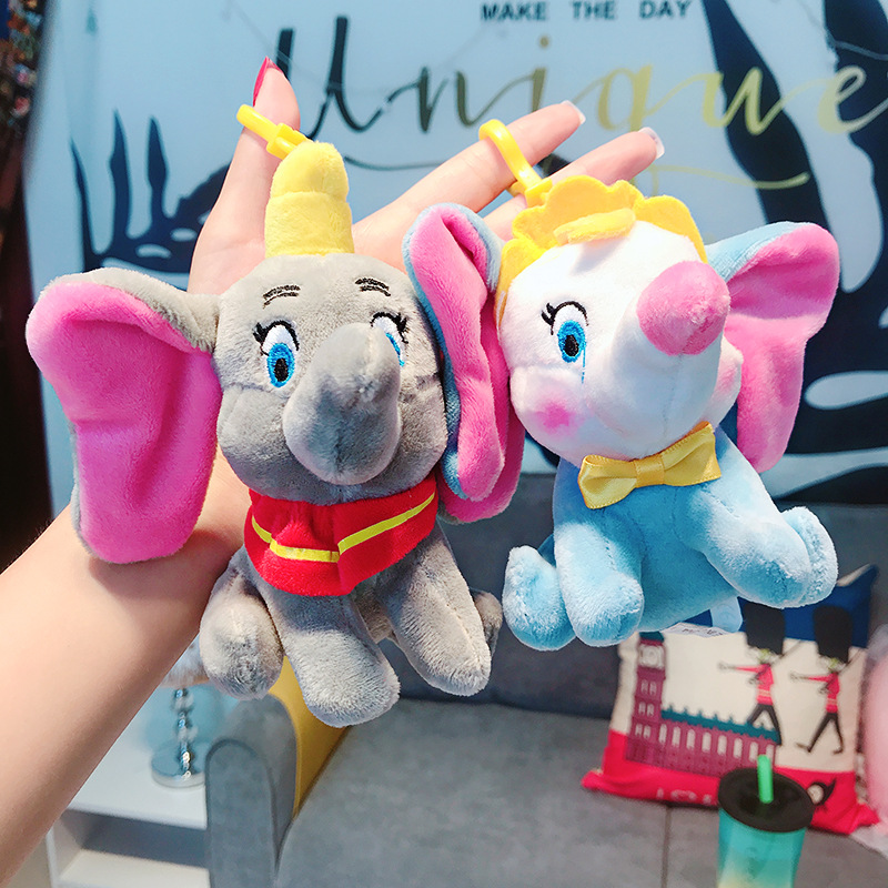 Pendant Key-Chain Plush-Toys Elephant Doll Presents Stuffed Animal Small Cartoon Dumbo title=