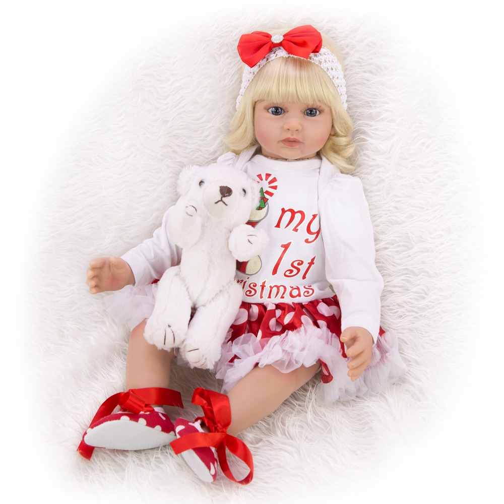 very big Simulation doll Child toy Girl baby reborn doll play house props girls Birthday gift Christmas surprise silicone doll