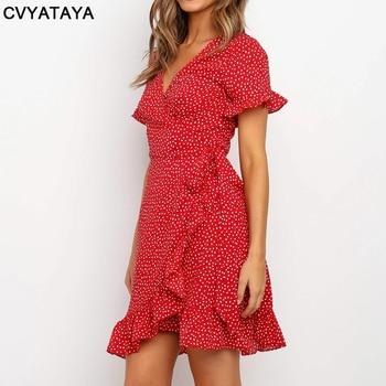 Red Sexy V Neck Dress 4