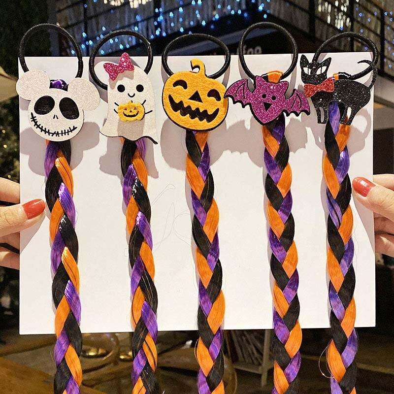 Купить cn 7 шт/лот парик на хэллоуин косичка эластичные повязки для