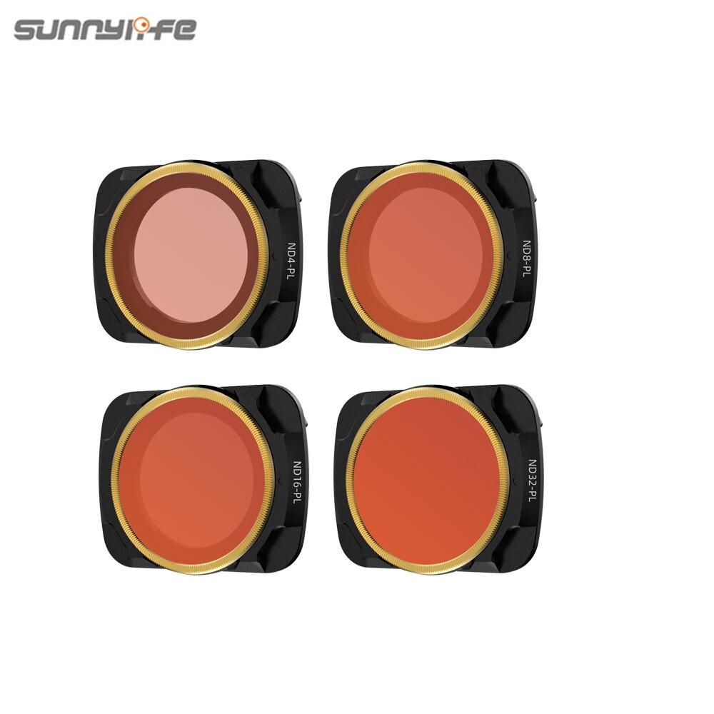 Sunnylife ND-PL Filters Set Lens Filter ND4-PL ND8-PL ND16-PL ND32-PL Lens Filter for Mavic Air 2 Drone Camera Accessories