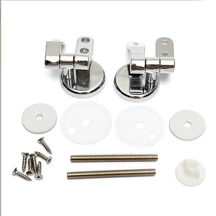 Shengruijia Bathroom Zinc Alloy Toilet Cover Hinge with Screw Parts Hotel Aggravate Pedestal Pan Accessories