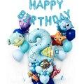 50 шт. 1st Фольга океан Животные Количество воздушных шаров морской рыбы воздушные шарики в виде животных для детей подарок на день рождения с ...