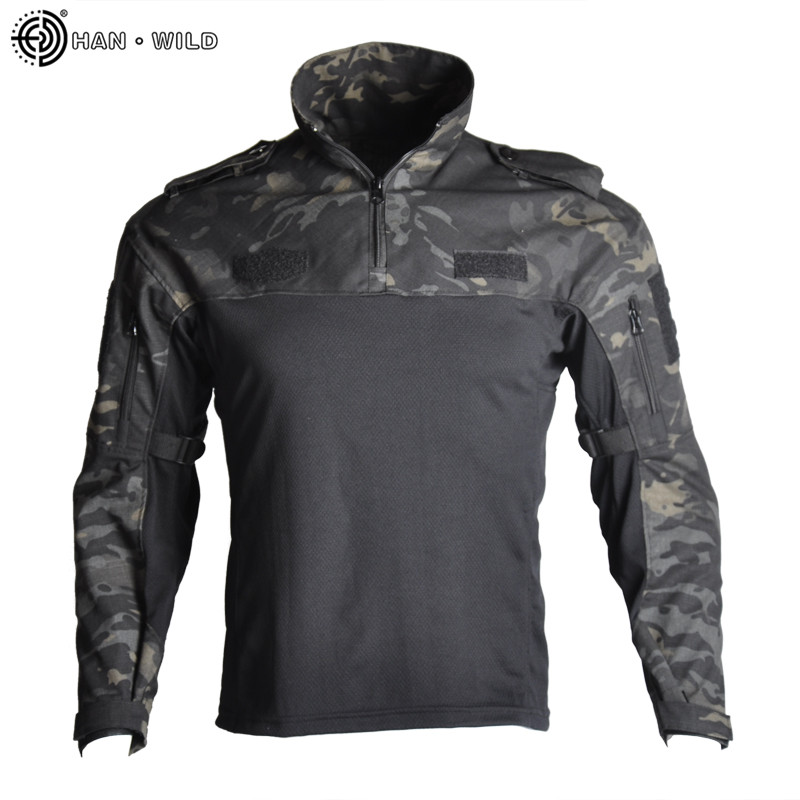 HAN WILD Camouflage Hunting Clothes Tactical Frog Suits Military Uniform Paintball Airsoft Sniper Combat Shirt&Pants Jersey 5