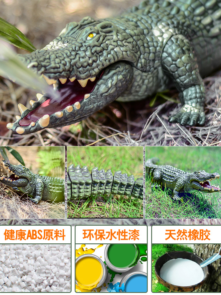 Children Electric Crocodile Toy Remote Control Animal Toys Large Size Plastic Model Dinosaur 3456-Year-Old Boy