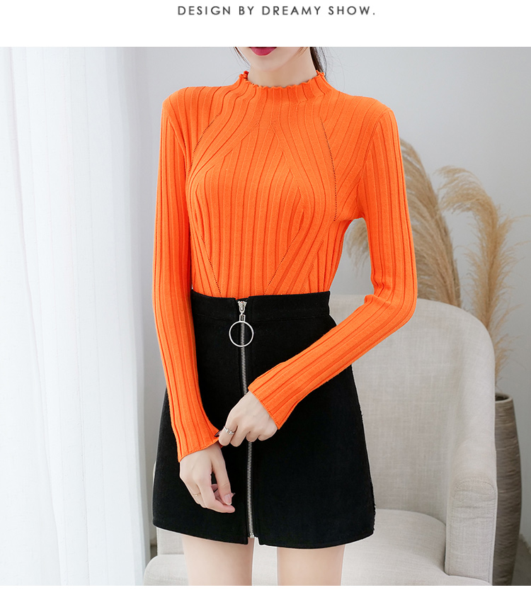 Sweaters fashion 19 women sweaters ladies winter clothes women knit solid black long sleeve tops sueter mujer Pullovers 0364 19