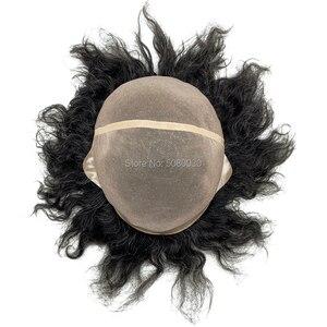 Image 4 - Parrucca di capelli maschile su misura big cap toupee dei capelli umani mono merletto di base delle donne parrucca