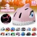 Велосипедный Детский Светильник, кепка, шлем для скейтборда, детский безопасный шлем для животных 49-55 см, велосипедный шлем, велосипедные ко...