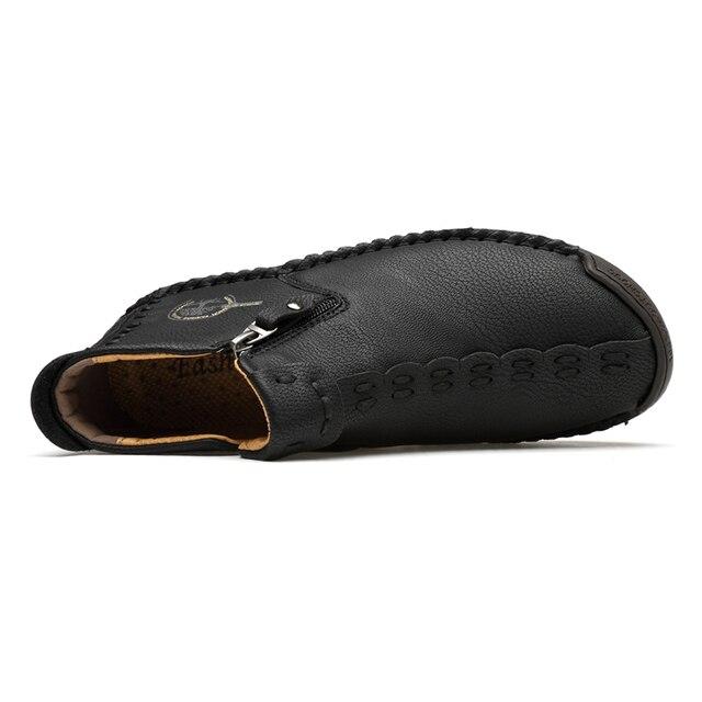 Классические зимние мужские ботинки мокасины 2