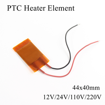 цена на 1pc/lot 44x40mm 110V 220V PTC Heater Ceramic Heater Plate Thermistor Air Heating Element induction Mini Seat Outdoor Film