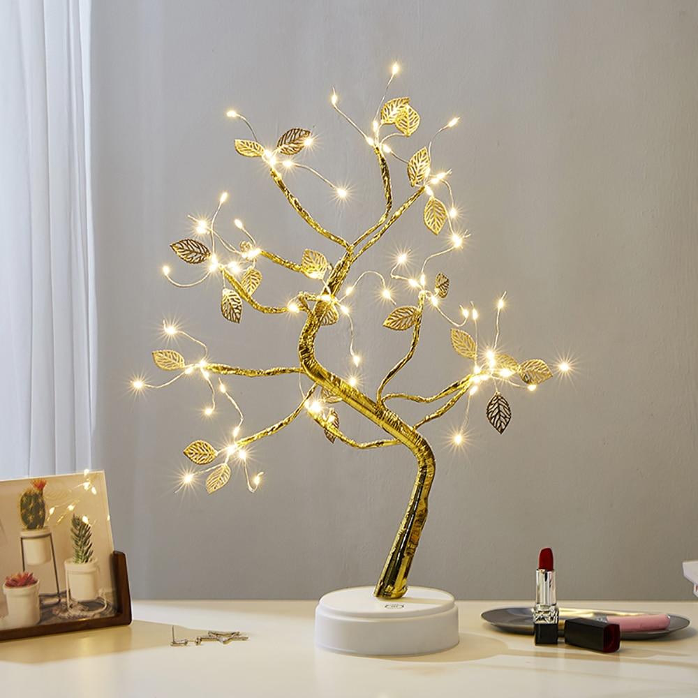 Настольные декоративные светильники, настольная лампа со звездой и деревом, скандинавский Декор для дома, гостиной, спальни, декоративные а...